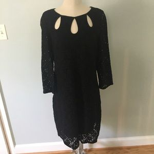 long sleeve lace dress by Laundry size medium